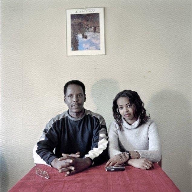 Henrik Saxgren: Somalisk far med datter, 2002