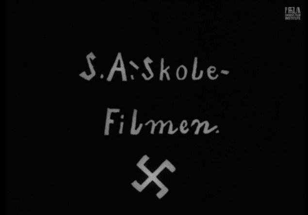 Framegrab fra S.A.-Skolefilmen, 1938-1939. (sculptingthepast.dk)
