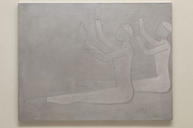 Silke Otto-Knapp: Two Figures (sitting), 2012.