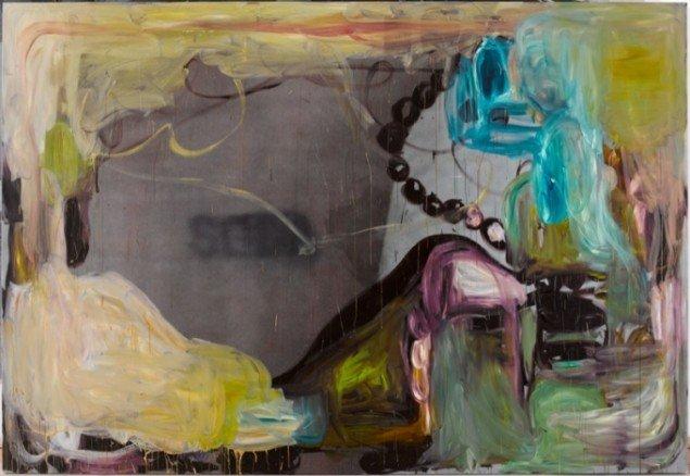SODA  Oil on inkjet, 220 X 320 cm, 2008. Foto: Anders Sune Berg