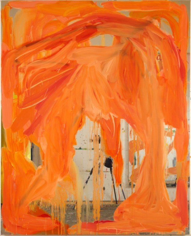 UT(Henrys place)  Oil on mirror foil, 200 X 160, 2010. Foto: Anders Sune Berg