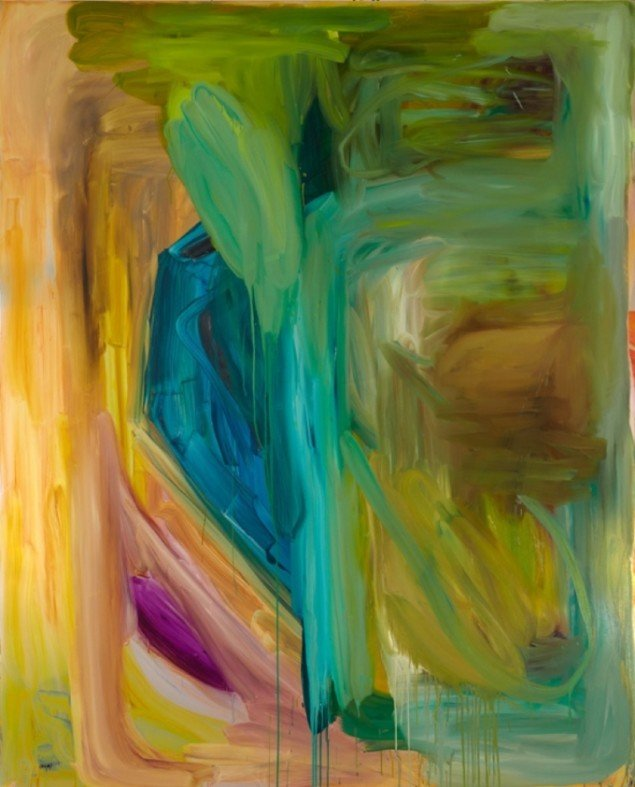 UT(rainbow of colors)  Oil onmirror foil, 200 X 160, 2010. Foto: Anders Sune Berg