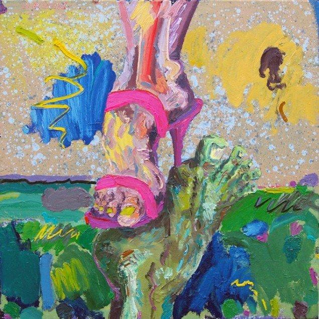 Michael Bredtved: Equilibrium point. Maleri (100x100 cm.). Foto: Heine Skerning