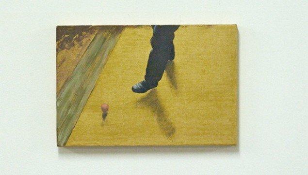 Peter Egedal Andreasen: Direction, 2012. Maleri, 24x36 cm. Foto: Heine Skerning