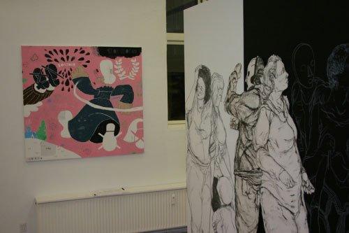 Søren Behncke: Team Amor, 2005 og installation af Armsrock. Foto: Bo Christensen