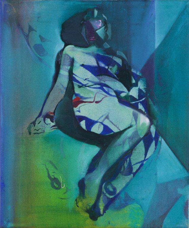 Cathrine Raben Davidsen: Fensterbild, 2013. Oliemaleri, 41 x 34 cm. Pressefoto