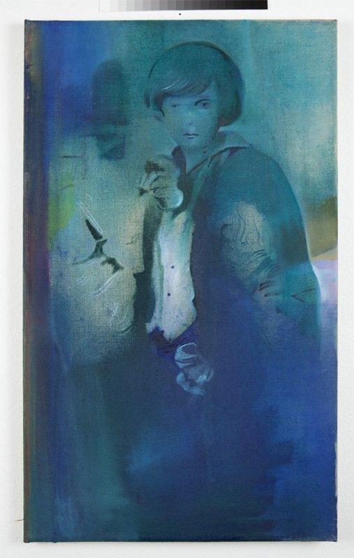 Cathrine Raben Davidsen: Puppet, 2013. Oliemaleri, 65 x 45 cm. Pressefoto