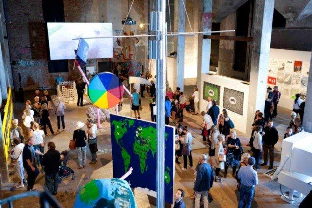 Åbningen af biennalen på Röda Sten Konsthall. (Pressefoto)