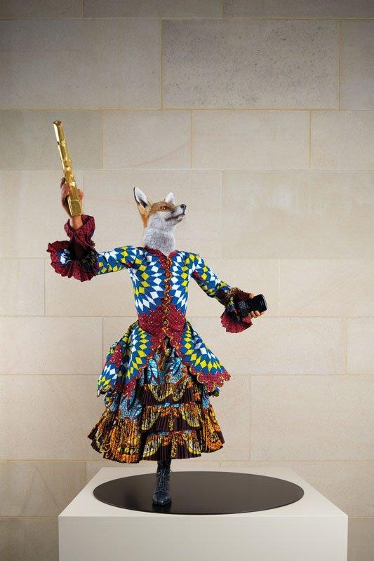 Revolution Kid (fox girl), 2012, Yinka Shonibare MBE, 2012. (® Jonty Wilde, Yorkshire Sculpture Park, 2013. © James Cohan Gallery)