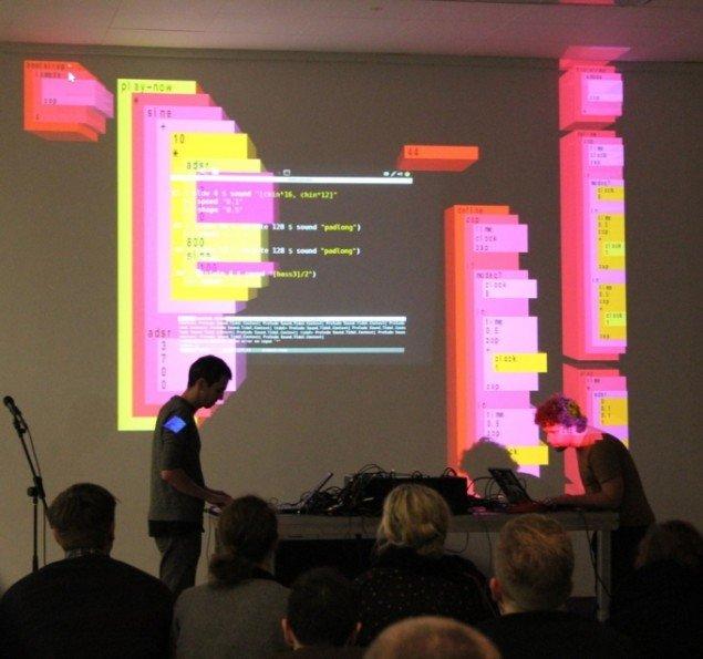 Slub under performancen i Kunsthal Aarhus. Foto: Metha Rais-Nordentoft