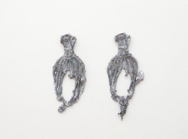 Emil Westman Hertz Blæksprutter, 2013. Bly, ca. 25x8 cm hver især. Foto: AnneElle Gallery