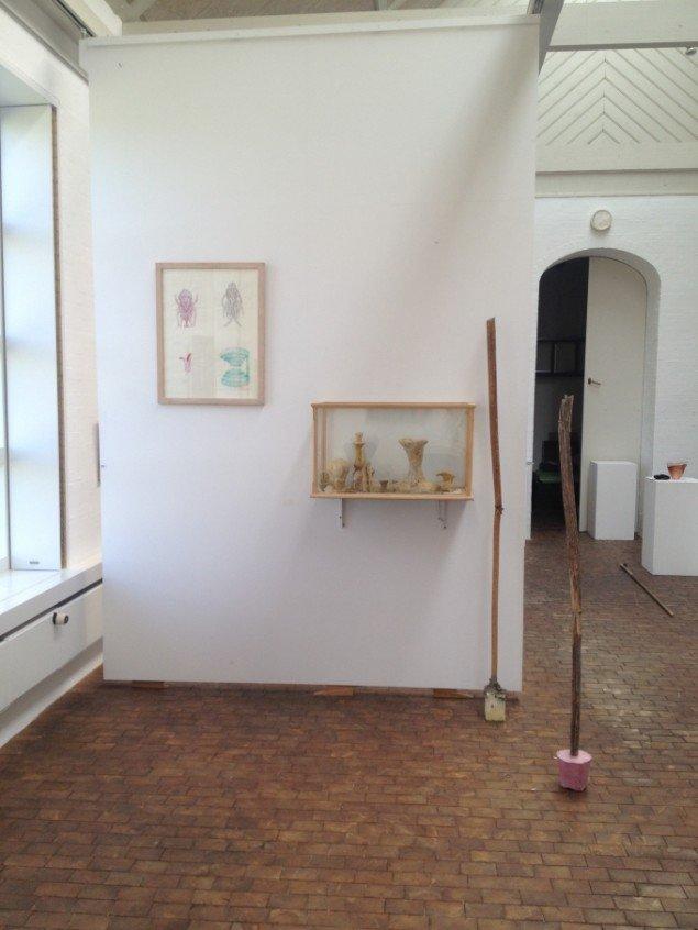 Emil Westman Hertz Blomster fra prinsens have, 2013. Installationsview fra Gudhjem Museum. Foto: Emil Westman Hertz