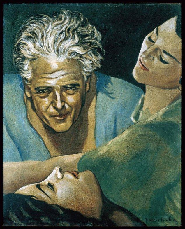 Francis Picabia: Autoportrait, 1935-40. (Pressefoto)