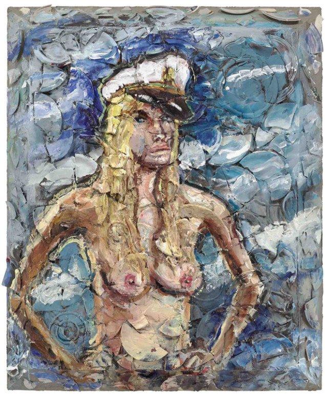 Julian Schnabel: Untitled (portrait of May), 2012. (Pressefoto)