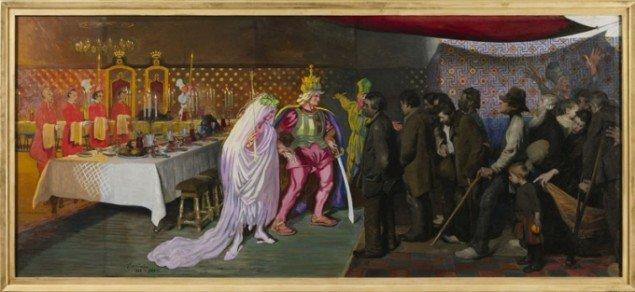 J.F. Willumsen: Kongsønnens-bryllup, 1888-1948. (Pressefoto)