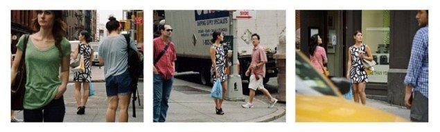 Barbara Probst: Exposure #91: N.Y.C., Prince & Mercer Streets, 06.22.11, 10:41 a.m. 2011. (Courtesy Kuckei + Kuckei, Berlin)