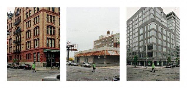 Barbara Probst: Exposure #94: N.Y.C., Washington & Watts Streets, 10.18.11, 1:02 p.m. 2011. (Courtesy Kuckei + Kuckei, Berlin)