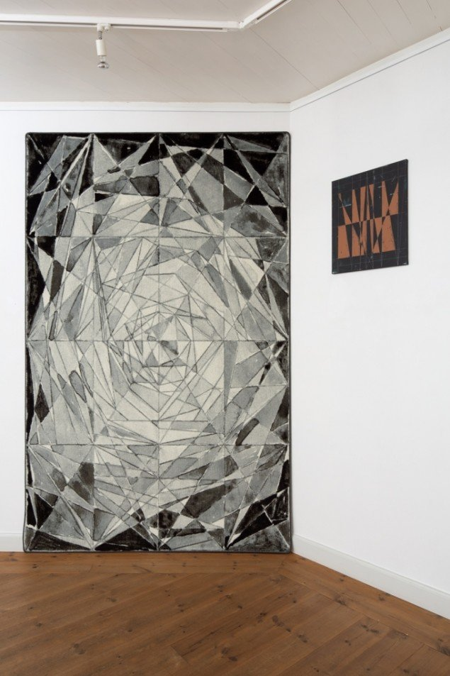 High, 2013 og Starry Paths, 2013. Fra  Lucky Pieces, Brundlund slot. foto Anders Sune Berg