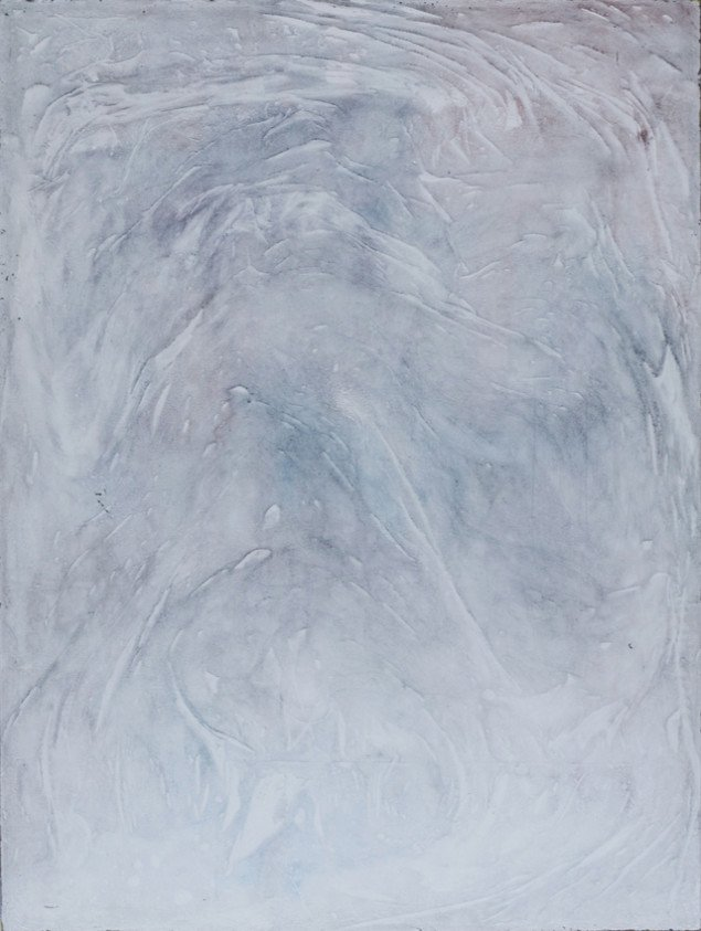 Silas Inoue: Tundra Wash, 2013. Akryl på MDF, 78 x 58 cm. På Wellness, Marie Kirkegaard Gallery 2013. Pressefoto