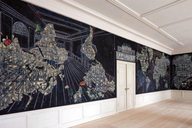 Jesper Christiansens udsmykning til Frederik VIII Palæ. 2010. Foto: Torben Eskerod