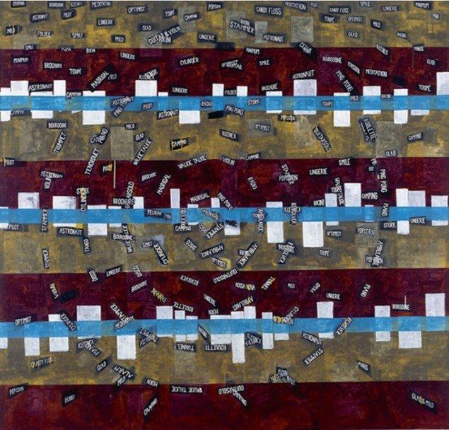 Jesper Christiansen Easylistening Madrigal 2001. Akryl og gesso på lærred, 240x255 cm. Galerie Michael Andersen. Foto: Maronica Lauridsen