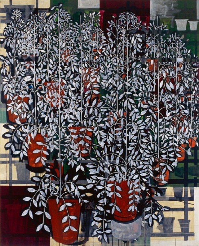 Jesper Christiansen Middle Distance Painting 1996-97. Akryl og gesso på lærred, 210x170 cm. Nordea.