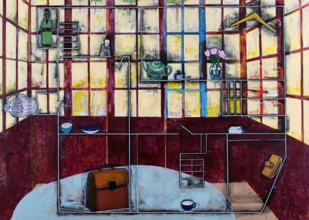 Jesper Christiansen Signaturen 2007. Akryl og gesso på hørlærred, 200x280 cm. Gallerie Michael Andersen. Foto: Maronica Lauridsen