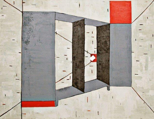 Jesper Christiansen Gennemtræk på min Schweizerkonto 1988. Olie på lærred, 130x164 cm. Galerie Michael Andersen. Maronica Lauridsen