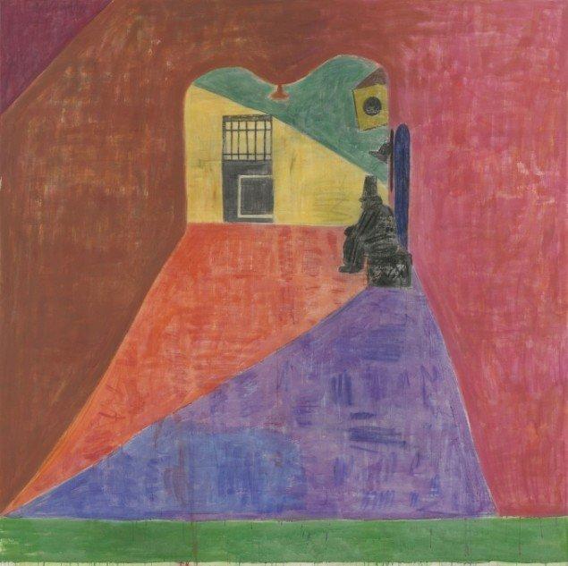 Tal R: The Schlomo, 2011, Kaninskindslim, pigment og oliekridt på lærred, 250,2 x 250,2 cm. Courtesy Cheim and Reid Gallery