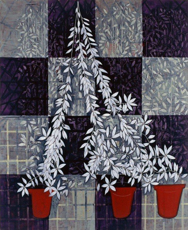 Jesper Christiansen Painting for Jack Shear (unfinished) 1997. Akryl og gesso på lærred, 210x170 cm. Nordea.