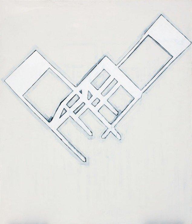 Jesper Christiansen Room Loop 1990. Akryl og gesso på bomuld, 204x175 cm. Statens Museum for Kunst. © SMK Foto.
