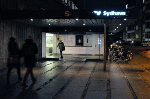 Indgang til Sydhavn Station 2013. Foto: Jens Axel Beck