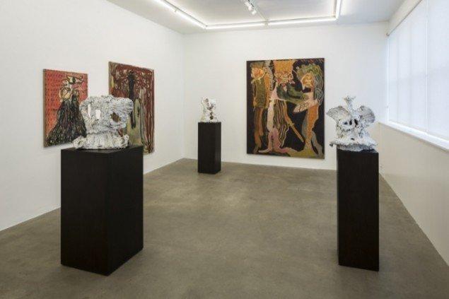 Installationsview, The Carollers of Kölbigk, Galleri Bo Bjerggaard 2013-14. Pressefoto