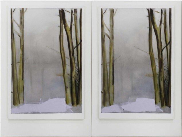 Morten Buch Trompe-l'oeil (landskab) 2011, 270x360cm. Olie på lærred. Tilhører Horsens Kunstmuseum. Foto: Anders Sune Berg