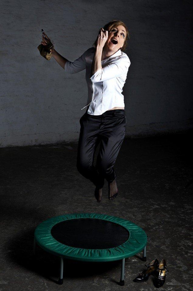 Fra performancen Moderne kvinde. Foto: Kirstine Mengel