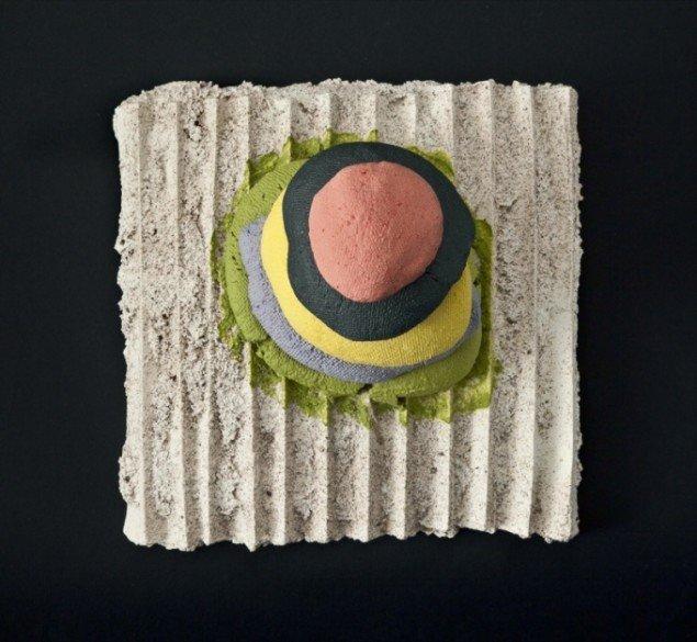 Karen Harsbo Skulpturel form 2010, porcelæn, gips/glasurblanding. Foto: Ole Akhøj