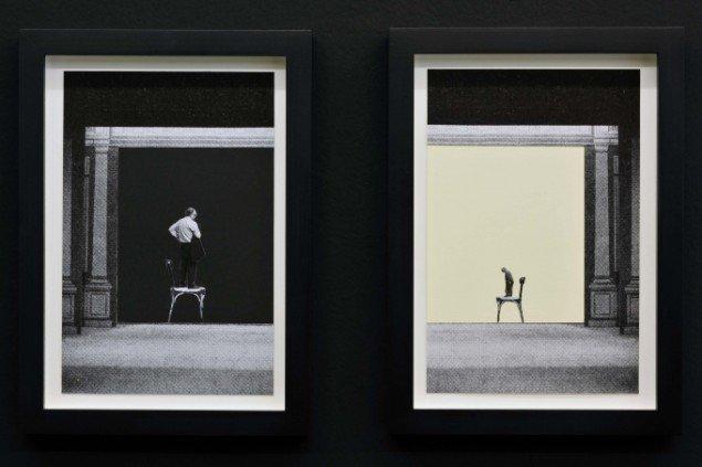 Jakob Kolding Chairmen 2011. Collage på papir 2 x 26x17 cm. Courtesy Galerie Martin Janda