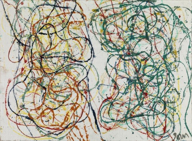 Asger Jorn: Formio and Cigalette, 1961, Olie på lærred. (Louisiana Museum of Modern Art).