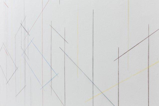 Sofie Thorsen: Some Straight Lines, 2014. Vægtegning. På Family, IMO 2014. Foto: Kristoffer Juel Poulsen