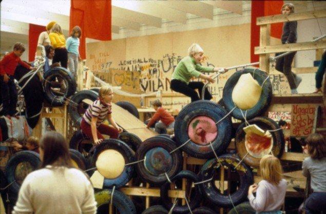 Palle Nielsens Modellen på Moderna Museet i Stockholm, 1968. (Foto: Palle Nielsen)