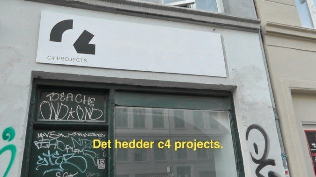 Naja Maria Lundstrøm: It's called c4 projects 2013. Video still. Fra udstillingen 1, 2, 3, FIRE, c4 projects