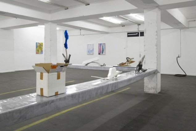 Installationsview PVCntings & Suggestions 4 Bronzes, 3D, Henningsen Gallery. Foto: Henningsen Gallery