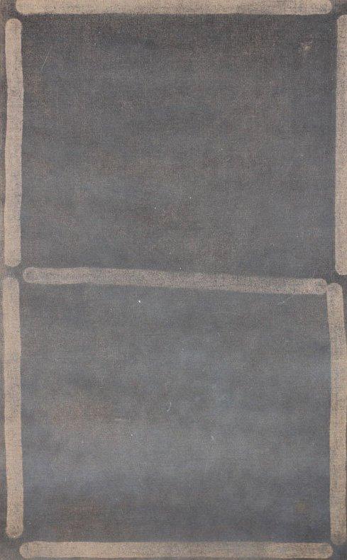 Rasmus Høj Mygind Untitled 2011. Vacuum painting series, pigment og resin på lærred, 122x65 cm. Foto: Henningsen Gallery
