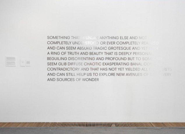 Robert Barry: Statement, 2013. (Foto: Léa Nielsen)
