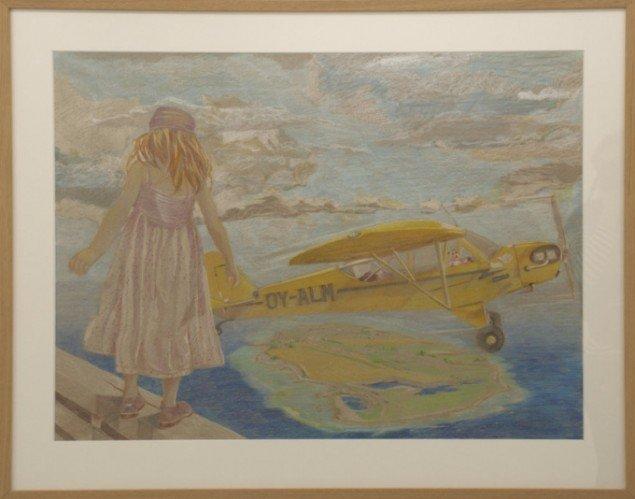 Fra  Den lille gule flyver på Galerie Asbæk 2012