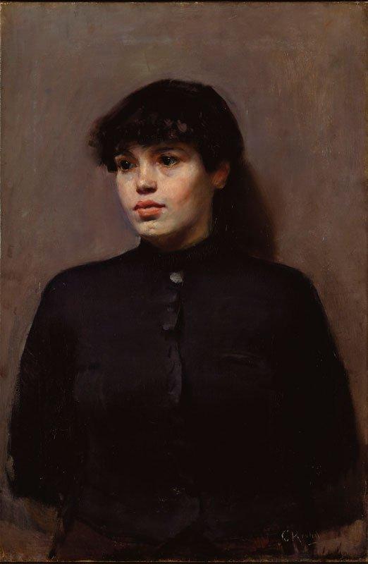 Et af de indfølte portrætter af gadens kvinder. Christian Krohg: Jossa, 1886. (Nasjonalmuseet for kunst, arkitektur og design)