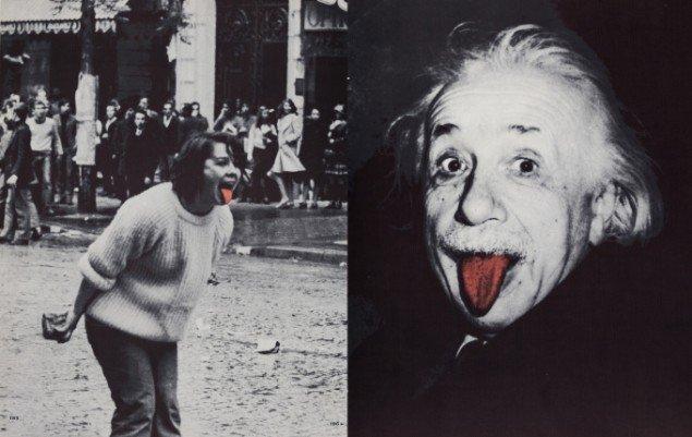 Asger Jorn og Noël Arnaud: Opslag fra La langue verte et la cuite. Étude gastrophonique sur la marmythologie musiculinaire (Den rå og den kogte tunge), 1968. SMK pressefoto