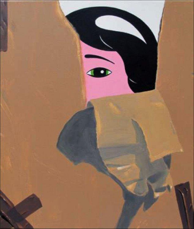 HuskMitNavn: The Package 2014. Akryl på lærred, 50x60 cm