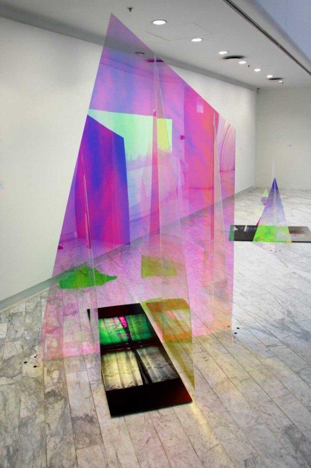 Eva Tind: Panorama, 2014 (detalje). Installation af fem skulpturer. Mixed media. På Panorama, Traneudstillingen 2014. Foto: Aukje Lepoutre Ravn