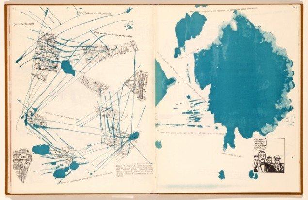 Debord og Jorn: Mémoires side 42-43, 1959. Foto: Lars Bay © Donation Jorn, Silkeborg
